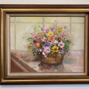 flowers in basket by glynn