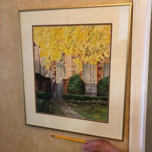 watercolor of yellow tree