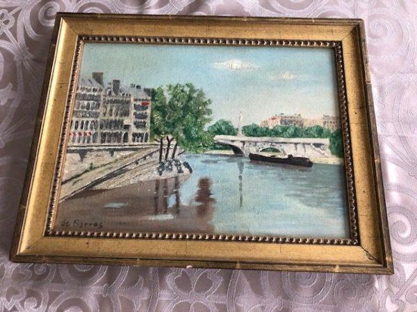 de Barros . river oil painting