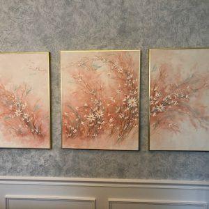 ROland Partos triple panel art