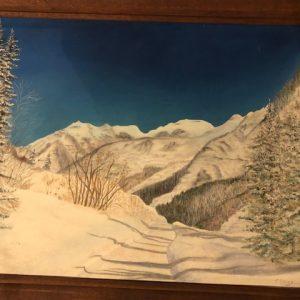 Stahly winter scene painting