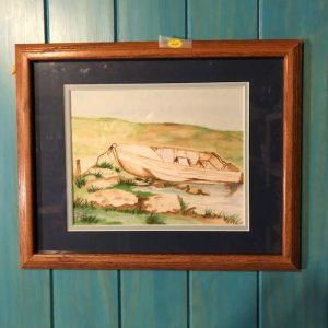 rowboat watercolor