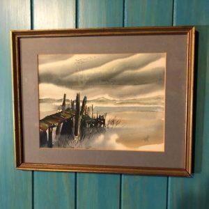 Bogel wharf watercolor