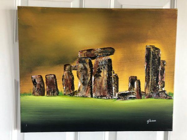 Stonehenge, original art, gibson