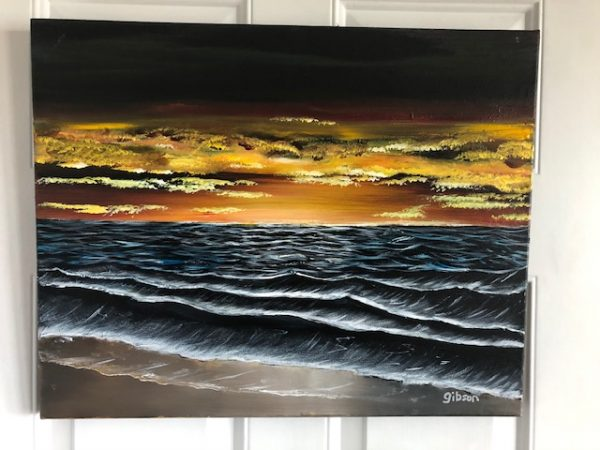 seascape painting gibson
