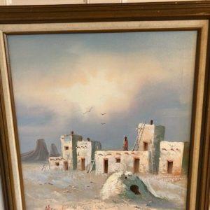 Oil painting, southwest theme