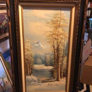 antarino, original oil painting, mountain scene