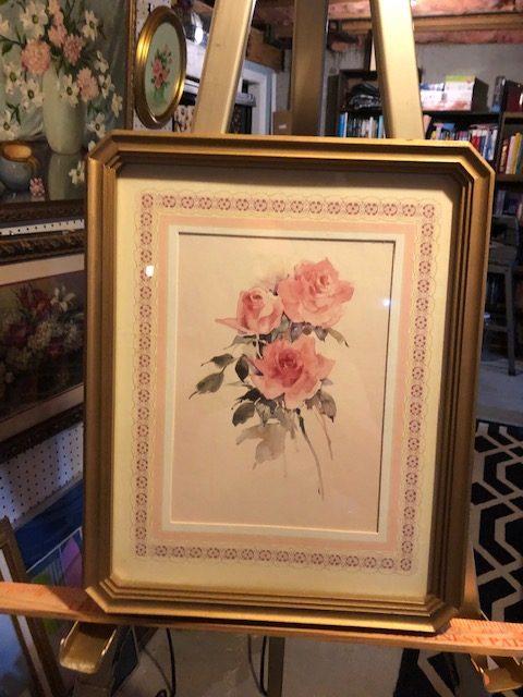 rosses, vintage print, unusual frame