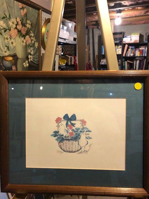 Barbara Locke, limited edition, basket of birds