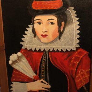 Irene shea, queen of hearts, portrait, fantasy, original oil painting