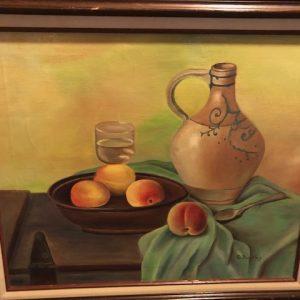 e buckley, still life, fruit, original oil painting